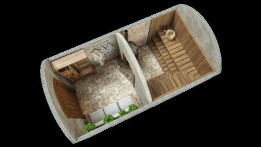 Saun 9,7 m² STANDARDPAKETT
